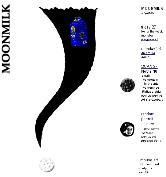 screenshot of moonmilk in 1997